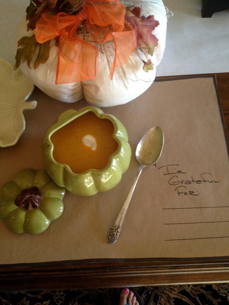 Butternut Squash, Pumpkin Ale & Cheese Soup