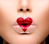 24534779-beauty-sexy-lips-with-heart-shape-paint-valentines-day